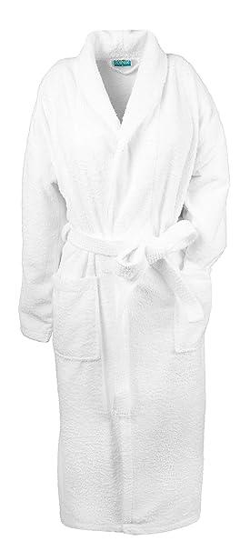 ZOLLNER Albornoz de Ducha Unisex, 100% algodón, de la Talla S a la 6XL, Blanco, para Hombre y Mujer, 020: Amazon.es: Ropa y accesorios