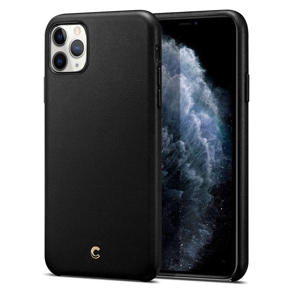 Funda De Cuero Premium Para iPhone 11 Pro, Negra Cyrill