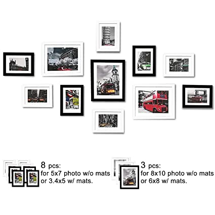 20308a6c5aa Amazon.com - WOOD MEETS COLOR 11 Pcs Picture Frames Set