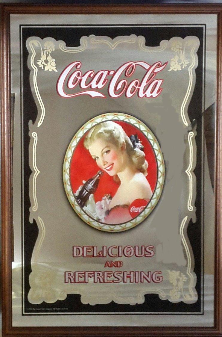Coca Cola grande specchio