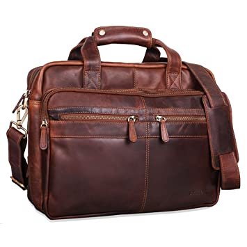 f9f4b1bbad STILORD 'Explorer' Lehrertasche Leder Herren Damen Aktentasche Büro  Schulter- oder Umhängetasche für Laptop