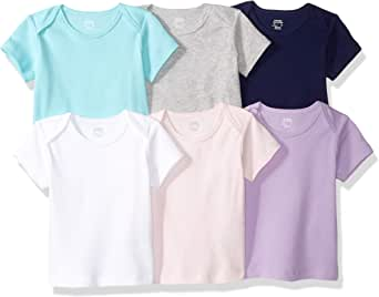 Amazon Essentials 6-Pack Lap-Shoulder tee Unisex bebé, Pack de 6