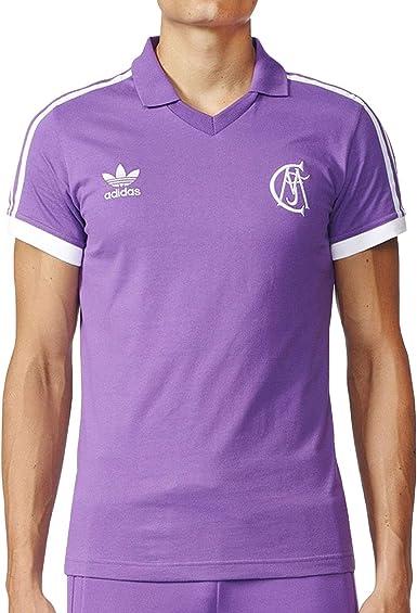 adidas Originals Real Madrid - Camiseta de fútbol para hombre, diseño retro, color morado, XS, Púrpura: Amazon.es: Ropa y accesorios