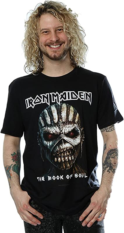 BOOK OF SOULS TOUR T SHIRT EDDIE HEAVY METAL IRON MAIDEN OFFICIAL LICENSED