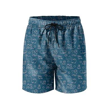 COVASA Funny Blue Summer Beach Surfing Fashion Man Summer Short,