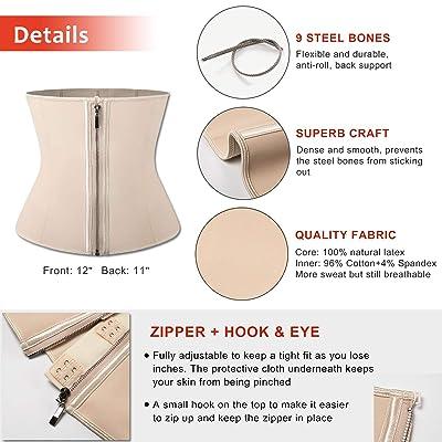 Details about  /Women Latex Underbust Waist Trainer Corset Cincher Zipper/&Hook Hourglass Shaper