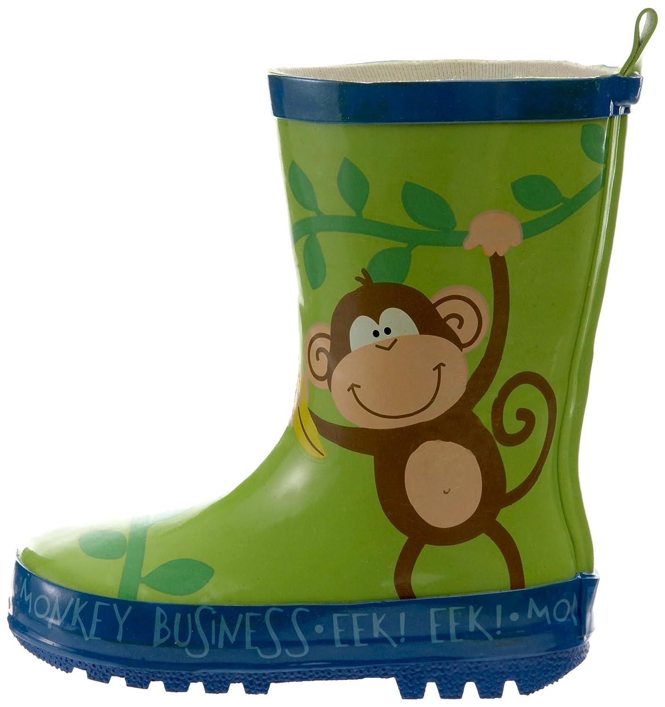 Stephen Joseph Boys 2-7 Monkey Rain Boots 10 Jungle Green