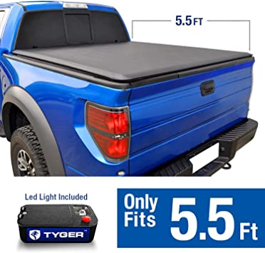 Lock /& Soft Roll Up Tonneau Cover For 2004-2018 Ford F-150 5.5ft 66in Bed