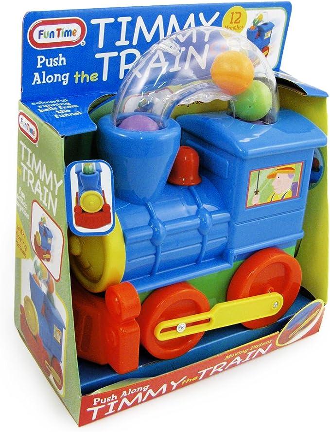 FUN TIME TIMMY THE TRAIN PUSH ALONG BALL BLOWING LOCOMOTIVE