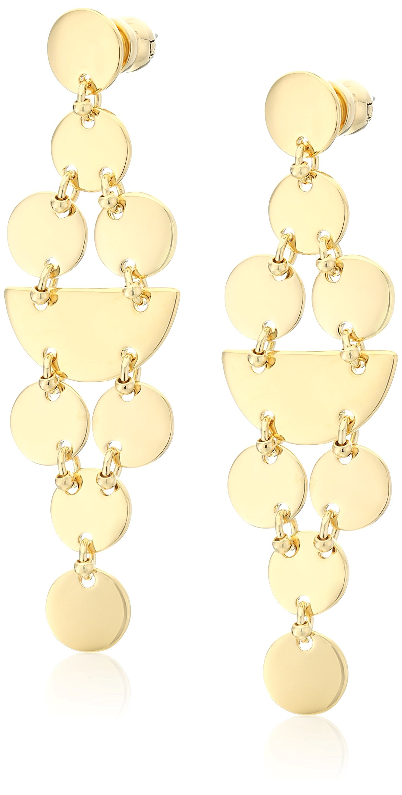 Diane von Furstenberg ''Summer Disco'' Geometric Circle Chandelier Drop Earrings