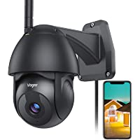 Voger Security Camera Outdoor, 360°Black Camera for Home Security 1080P WiFi Surveillance Camera System with Motion…
