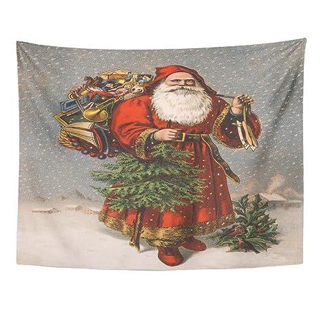 Amazon Com Emvency Wall Tapestry Christmas Saint Nicholas