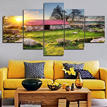 Amazon.com: Landscape Wall Art for Bedroom Canvas Artwork Painting ...