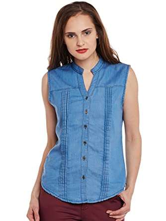bcec392dec6e Ants Sleeveless Denim Shirt For Girls and Womens: Amazon.in: Clothing &  Accessories