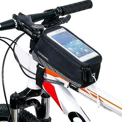 Amazon.com : HaloVa Bicycle Frame Bag, Bike Handlebar Bag, Bicycle ...