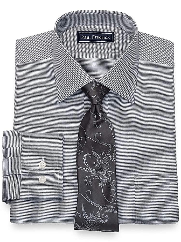 Paul Fredrick Mens Cotton Twill Button Cuff Dress Shirt