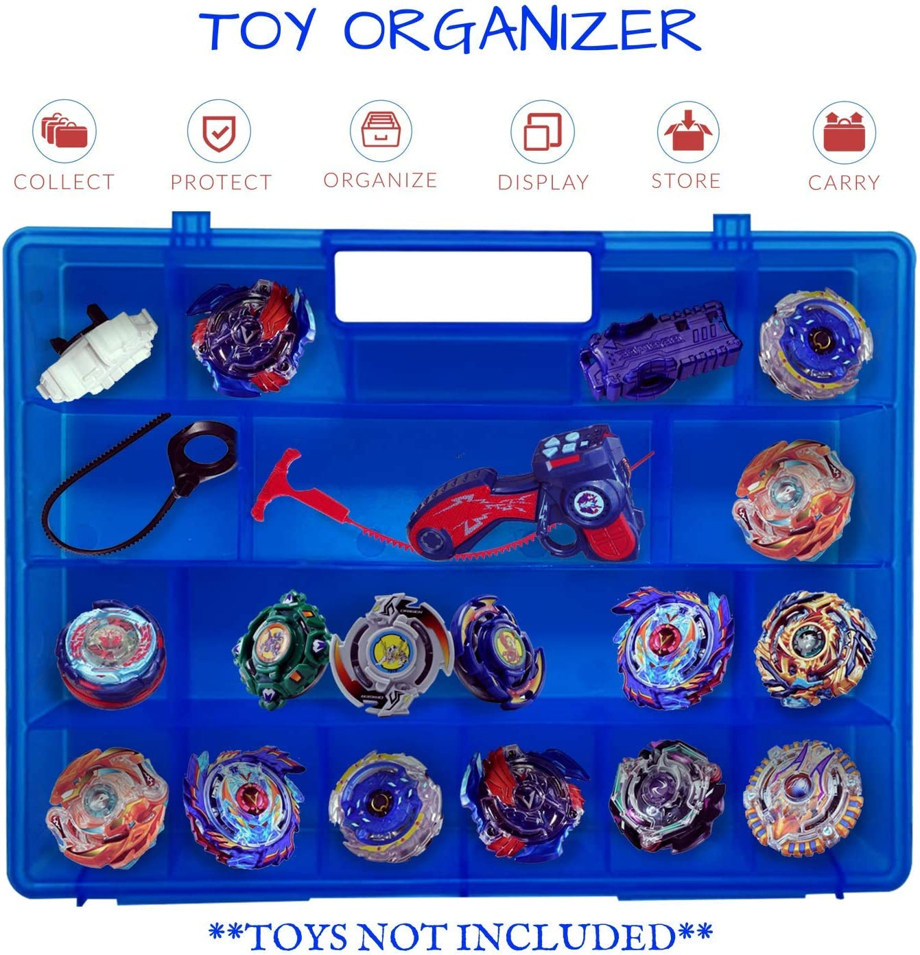Durable,... Life Made Better Blue Toy Storage Organizer 2.0 Newly Improved