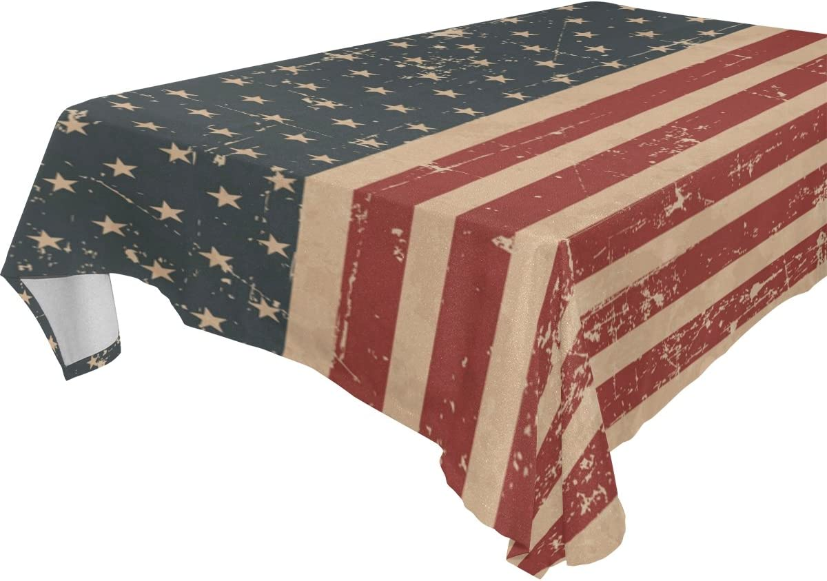 Rectangle Geometric Polyester Waterproof Tablecloth Simple Table Cover /& Flag
