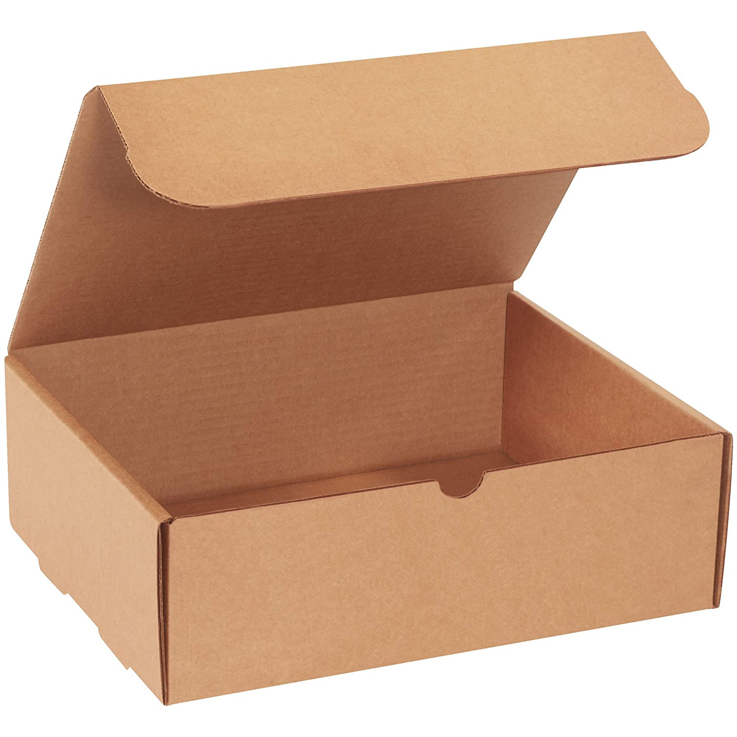 50 9 x 4 x 2 White Corrugated Mailers Die Cut Tuck Flap Boxes Free Shipping