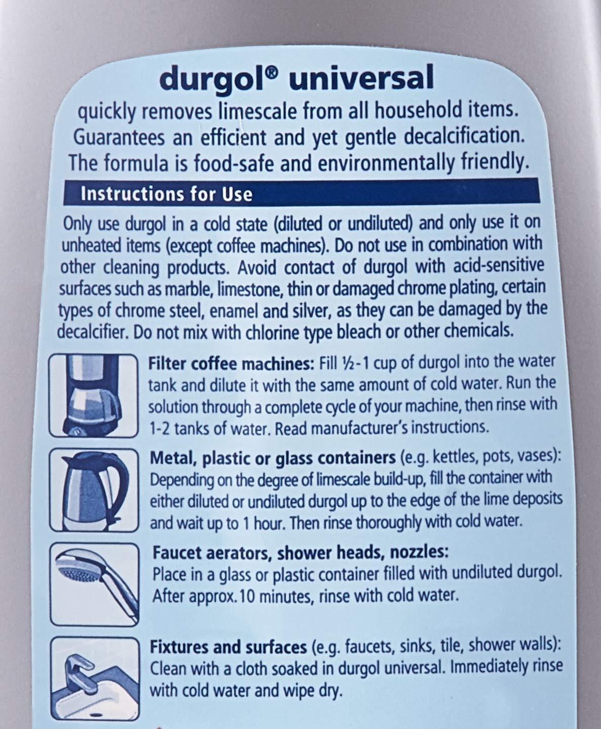 Durgol 0296 Universal Express Multipurpose Descaler/Decalcifier, 16.9 Fluid Ounce Bottle Blue by Durgol (Image #3)