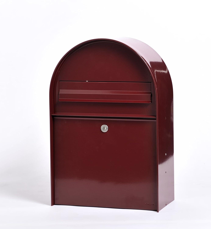 ME-FA(メイファ) 郵便ポスト mail box メイファ アンバー 前出しタイプ ボルドー B01MTXVFH1  ボルドー
