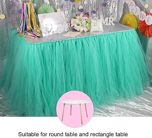 Falda de mesa – Acogedor Tutu Tulle falda de mesa cubierta para ...