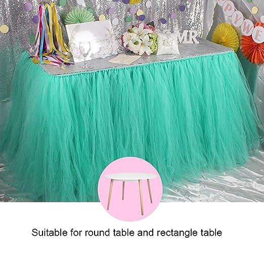 Falda de mesa - Acogedor Tutu Tulle falda de mesa cubierta para ...