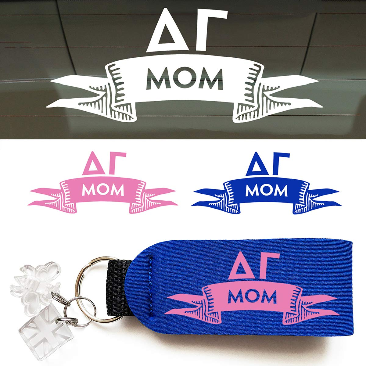 Delta Gamma Mom Arrow Decal