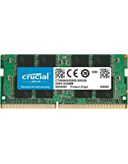 Crucial CT4G4SFS824A 4 GB Memory (DDR4, 2400 MT/s, PC4-19200, Single Rank x8, SODIMM, 260-Pin)