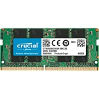 Crucial CT8G4SFS824A Memoria da 8 GB, DDR4, 2400 MT/s, PC4-19200, Single Rank x8, SODIMM, 260-Pin