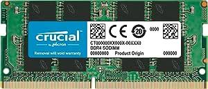 Crucial 4GB DDR4 2666MHz CL19 1.2V Non-ECC SODIMM, SO-DIMM Notebook Memory CT4G4SFS8266