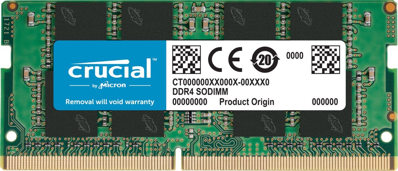 Crucial 4GB Single DDR4 2133 MT/s (PC4-17000) SR x8 SODIMM 260-Pin Memory - CT4G4SFS8213