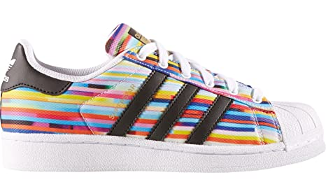 Scarpe Superstar J Multicolor Adidas Orginals Donna Sport Casual Palestra S80139