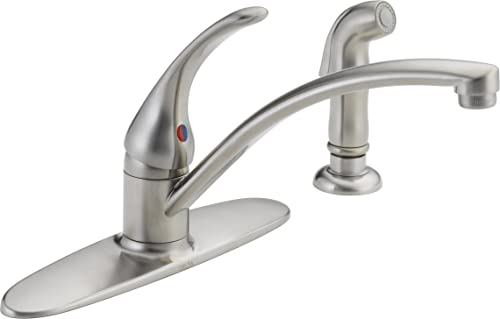 Delta Faucet Foundations Single-Handle Kitchen Sink Faucet, Stainless B4410LF-SS
