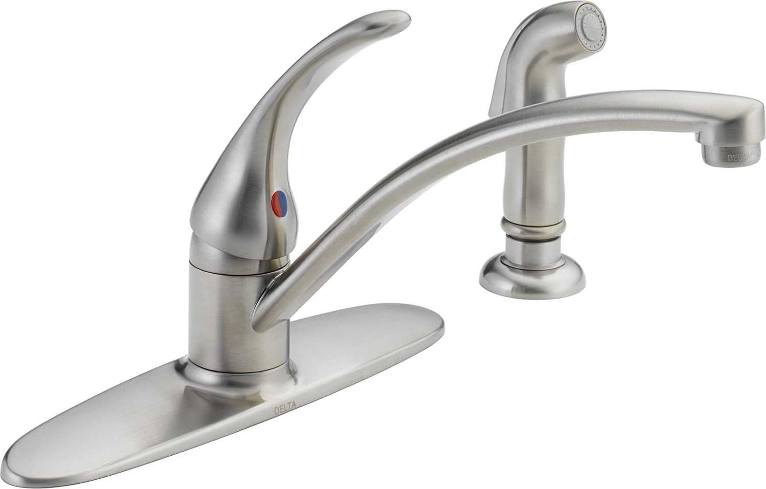 Delta b4410lf ss foundations single handle kitchen faucet stainless touch on kitchen sink faucets amazon com