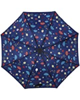 gusuqing Cute Travel Umbrella Manually Foldable Rain Windproof Anti-UV Flower Umbrella for Easy Carrying