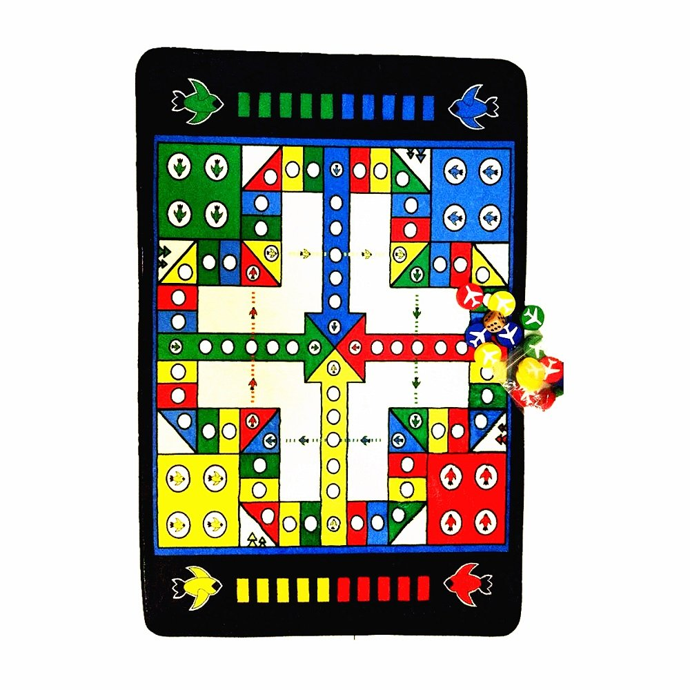 BruceWang Kids Portable Fun Non-Skid Game Carpet Baby Crawling Flying Chess Boys and Girls Learning Development Intelligence Ludo Game Educational Games Bedroom Classroom Nurser