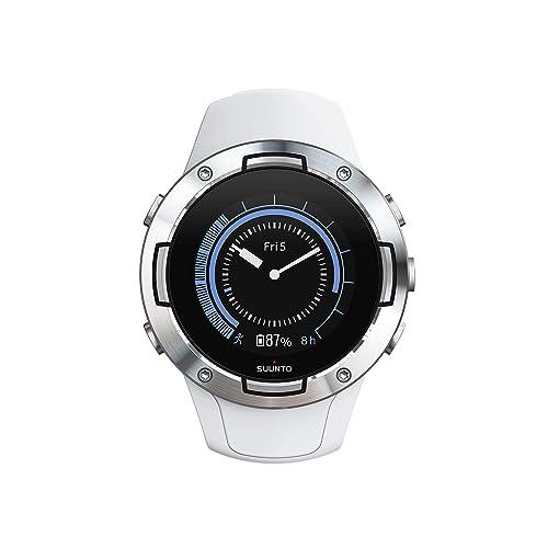 Montre Unisexe GPS Multisport Pour Adulte Sunnto 5 Verre Minéral Inox Silicone Blanc SS050300000