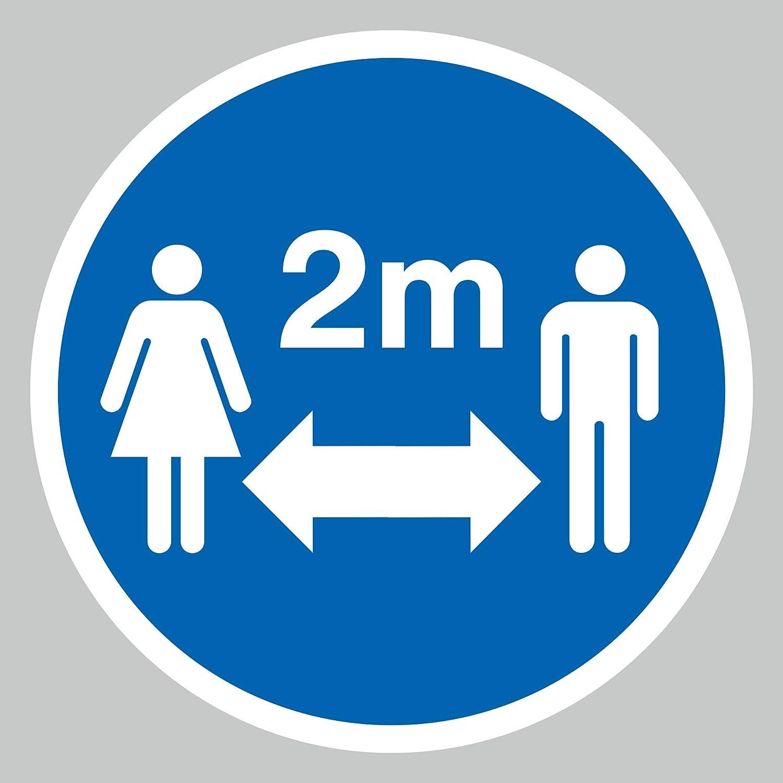 Signo gr/áfico de suelo con s/ímbolo de distancia de 2 m Vinilo para suelo