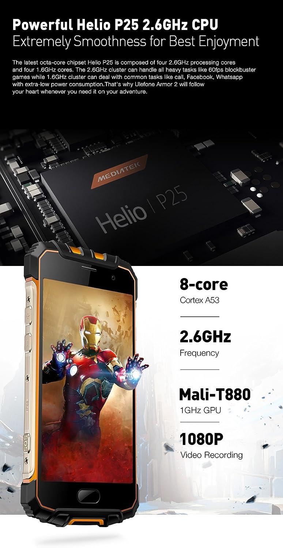 Ulefone Armor 2-5.0 Pulgadas FHD IP68 Impermeabilice 4G Android ...