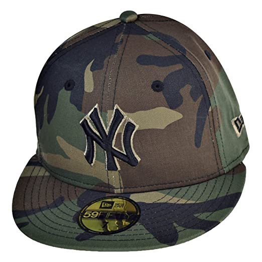 New Era New York Yankees 59Fifty Men s Fitted Hat Cap Camo Black 70387062  (Size 91d9ac82c5a8
