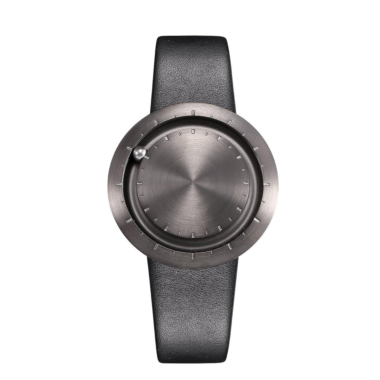 LAVARO luxus design damenuhren herrenuhren unisex armbanduhr analog quarzuhr 3bar wasserdicht lederarmband schwarz