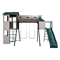 LIFETIME 290704 Adventure Tunnel Swing Set, Earthtone