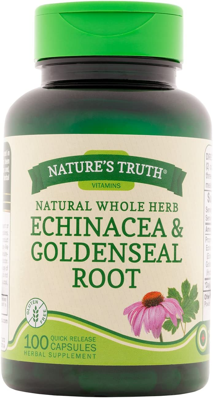 Nature's Truth Echinacea & Goldenseal Root Plus 100 Capsules