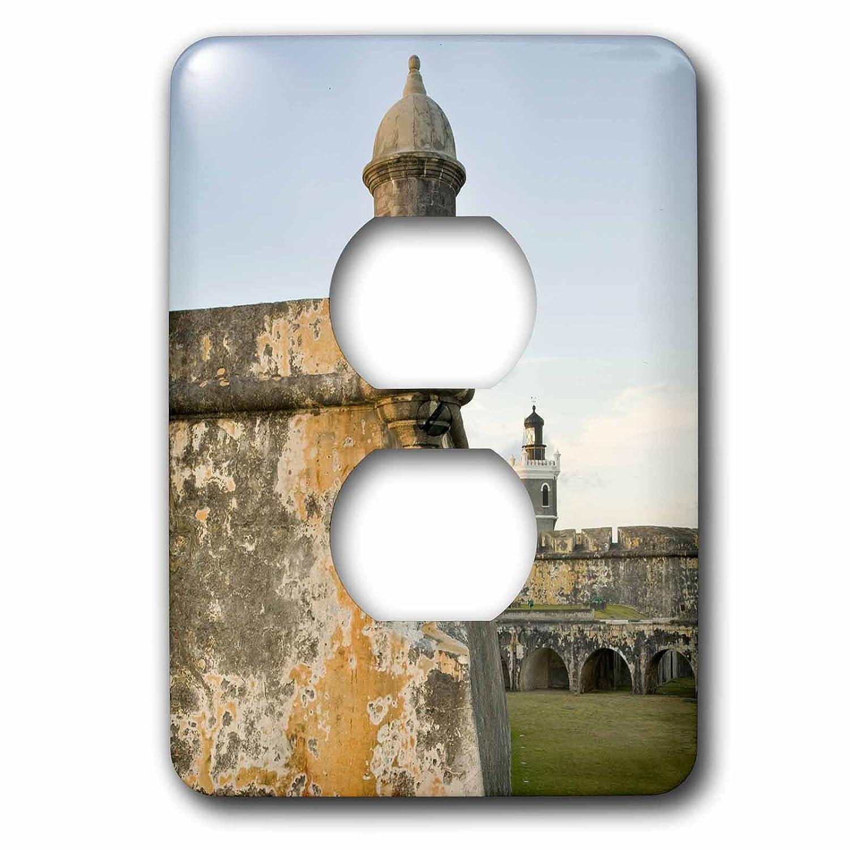 Au02 Jme0000 John And Lisa Merrill 2 Plug Outlet Cover Walls And Turrets Of El Morro Fort 3dRose lsp/_72289/_6 Puerto Rico