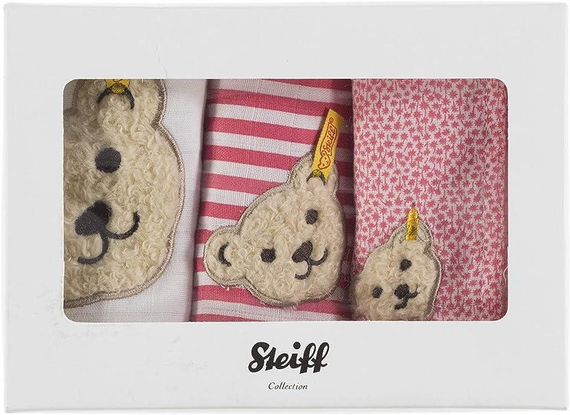 Steiff Baby M/ädchen Spuckt/ücher Set in Geschenkbox