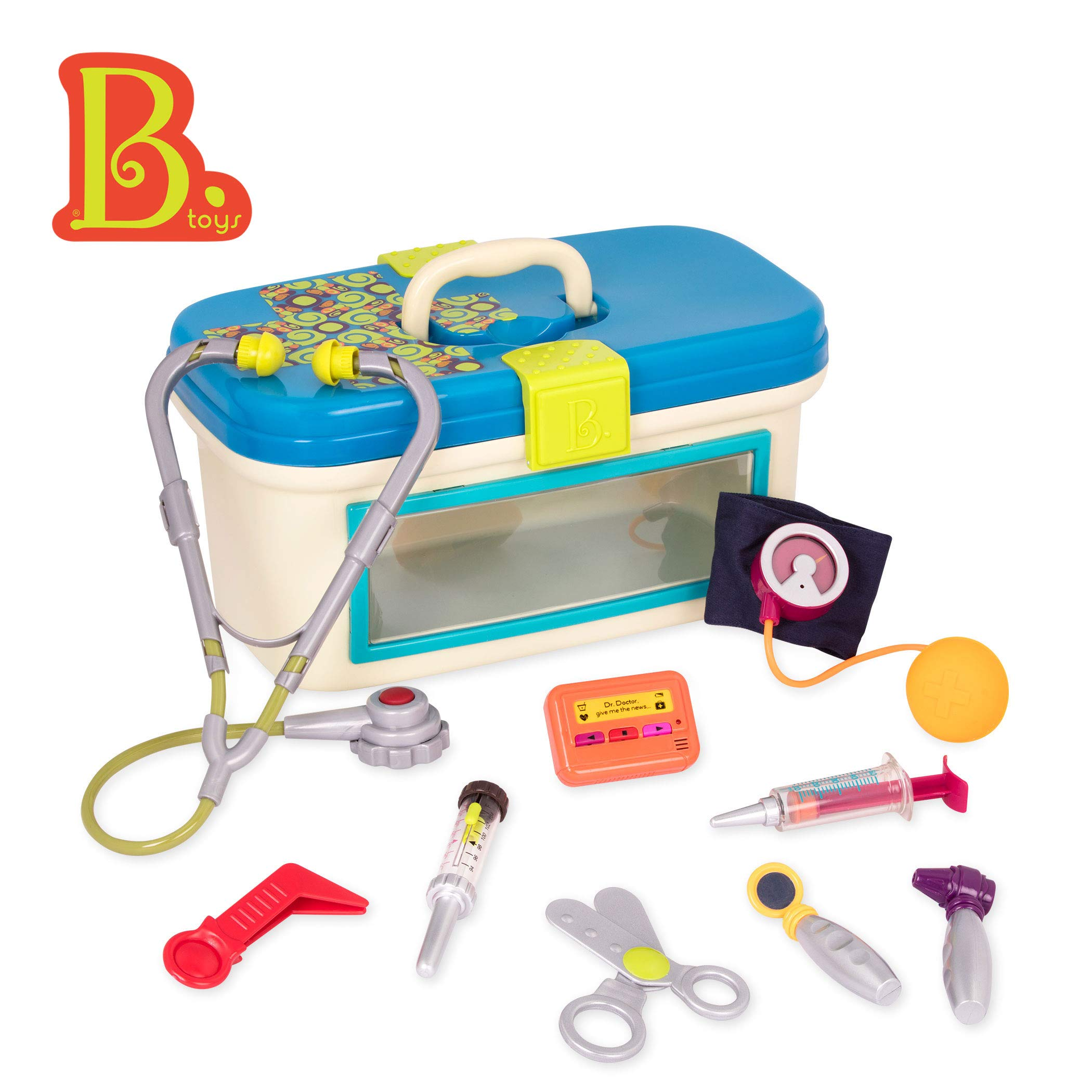 B. Toys - B. Dr. Doctor Toy - Deluxe Medical Kit for Toddlers - Pretend Play Set for Kids (10Piece) by B. toys by Battat