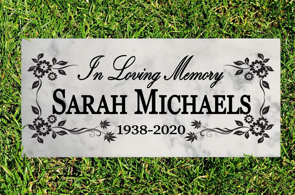 Broad Bay Personalized Memorial Garden Stone Gift Custom Loved One Memory Sign Outdoor Remembrance Plaque