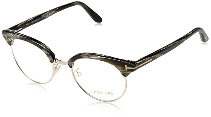 2a98eeb4573 Amazon.com  Tom Ford FT 5343 Eyeglasses 063 Black Horn  Sports ...
