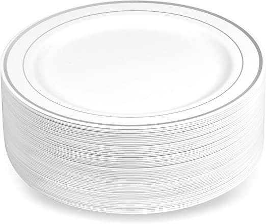 White Disposable Dessert Plastic Bowls Party Pack Wedding Catering  x 50